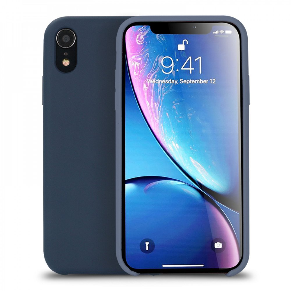 buy online 4fe68 5b681 Wholesale iPhone Xr 6.1in Pro Silicone Hard Case (Navy Blue)