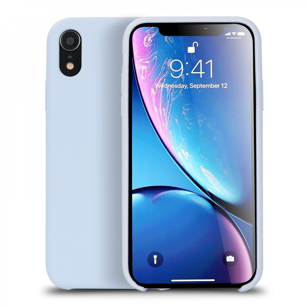 promo code 9e954 d529a Wholesale iPhone Xr 6.1in Pro Silicone Hard Case (Sky Blue)