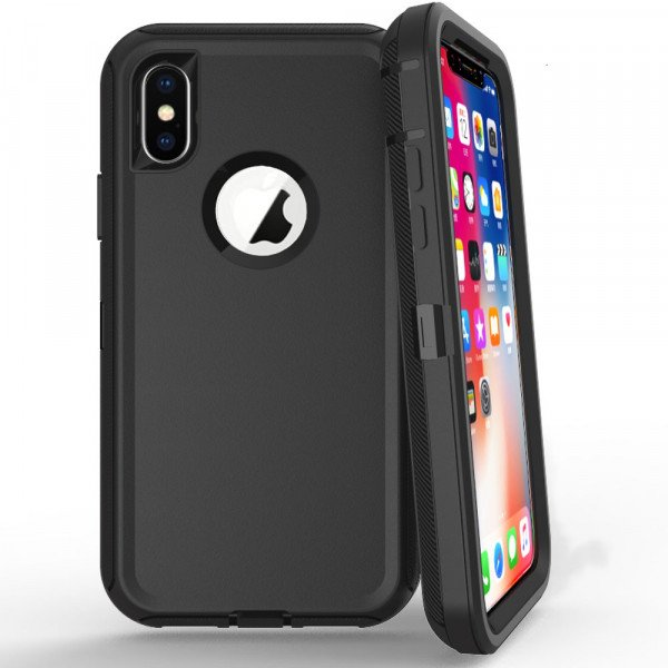 Wholesale iPhone Xs Max Armor Defender Case (Black Black)