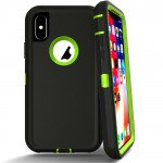 Wholesale iPhone Xs Max Armor Defender Case (Black Green)