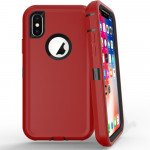 Wholesale iPhone Xs Max Armor Defender Case (Red Black)