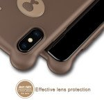Wholesale iPhone Xs Max 3D Teddy Bear Design Case with Hand Strap (Brown)