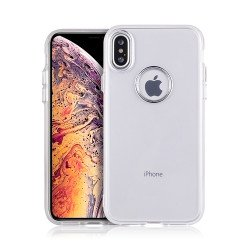 iPhone Xs Max Chrome Metallic Transparent Case (Clear)