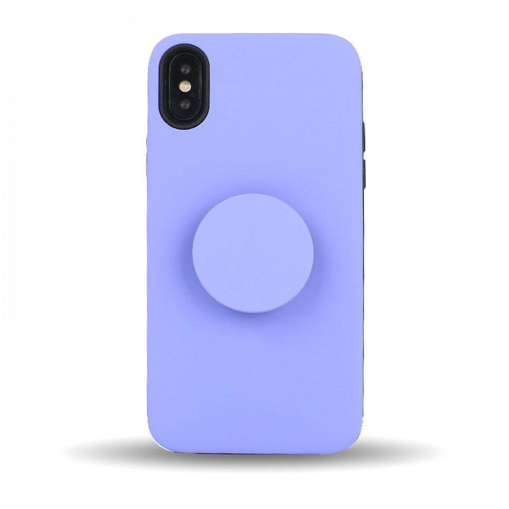 the best attitude 614c0 df081 Wholesale iPhone Xs / X Pop Up Grip Stand Hybrid Case (Purple)