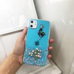Wholesale iPhone 11 (6.1in) 3D Deer Crystal Diamond Shiny Case (Blue)
