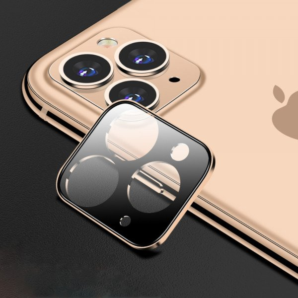 Wholesale iPhone 11 Pro (5.8in) / iPhone 11 Pro Max (6.5) Camera Lens HD Tempered Glass Protector (Gold)