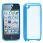Wholesale Apple iPod Touch 4 Gummy Case (Blue)