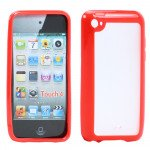 Wholesale Apple iPod Touch 4 Gummy Case (Red)