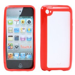 Apple iPod Touch 4 Gummy Case (Red)