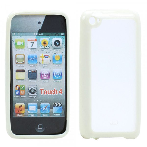 Wholesale Apple iPod Touch 4 Gummy Case (White)