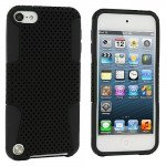 Wholesale iPod Touch 5 Mesh Hybrid Case (Black-Black)
