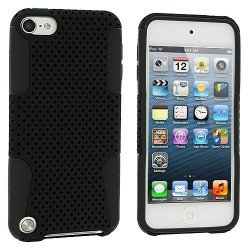 iPod Touch 5 Mesh Hybrid Case (Black-Black)