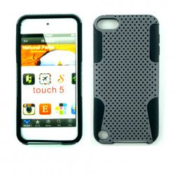 iPod Touch 5 Mesh Hybrid Case (Gray-Black)