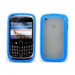 Wholesale Blackberry Curve 8520 9300 Gummy Hybrid Case (Blue)