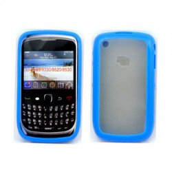 Blackberry Curve 8520 9300 Gummy Hybrid Case (Blue)