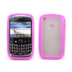 Blackberry Curve 8520 9300 Gummy Hybrid Case (Pink)