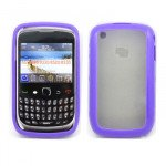Wholesale Blackberry Curve 8520 9300 Gummy Hybrid Case (Purple)