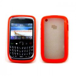 Blackberry Curve 8520 9300 Gummy Hybrid Case (Red)