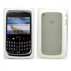 Blackberry Curve 8520 9300 Gummy Hybrid Case (White)