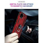 Wholesale Google Pixel 4 Tech Armor Ring Grip Case with Metal Plate (Red)