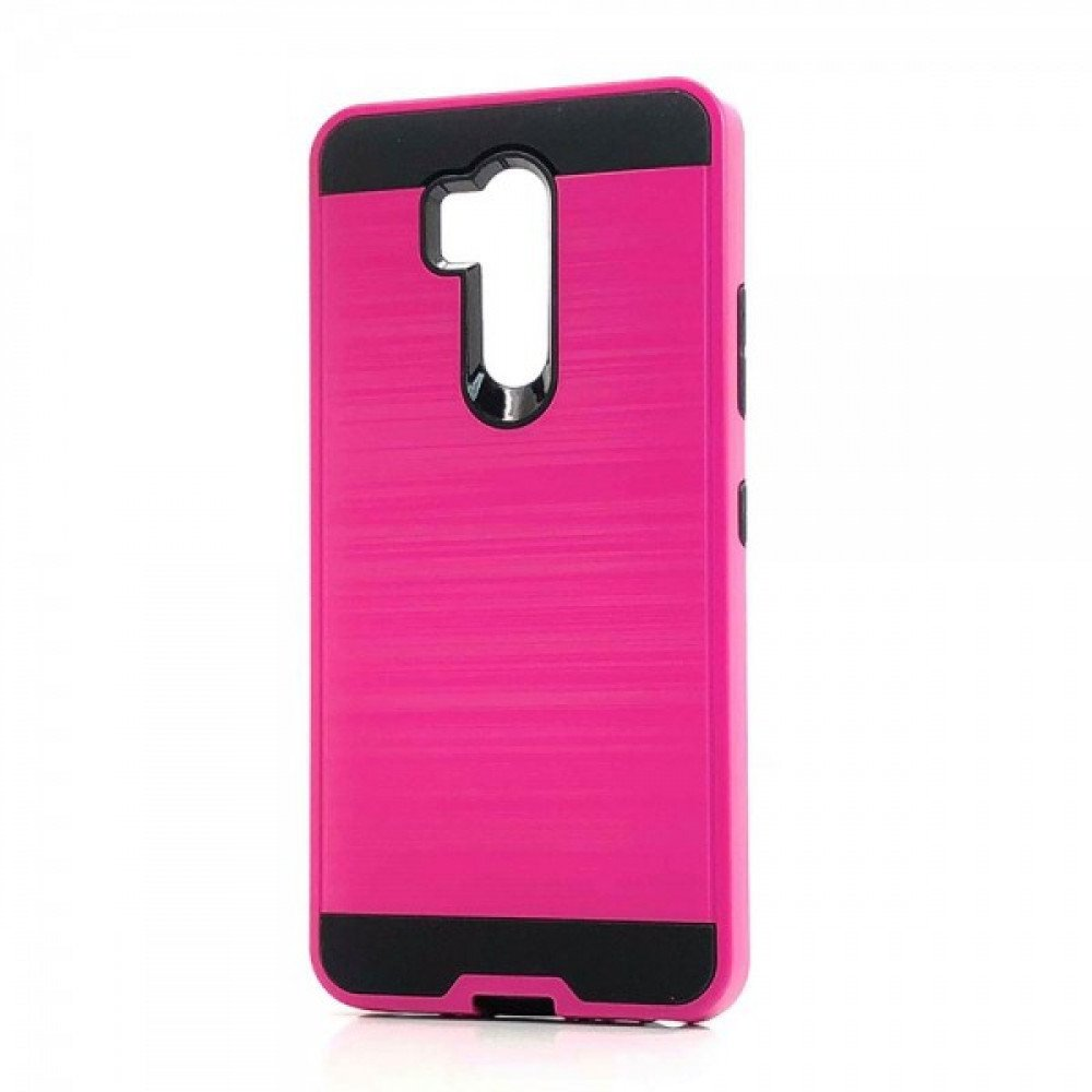 Wholesale LG G7 ThinQ Armor Hybrid Case (Hot Pink)