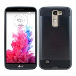 Wholesale LG K10 Premier LTE Iron Shield Hybrid Case (Black)