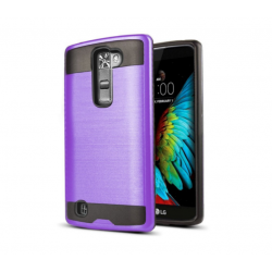 LG K10 Premier LTE Iron Shield Hybrid Case (Purple)
