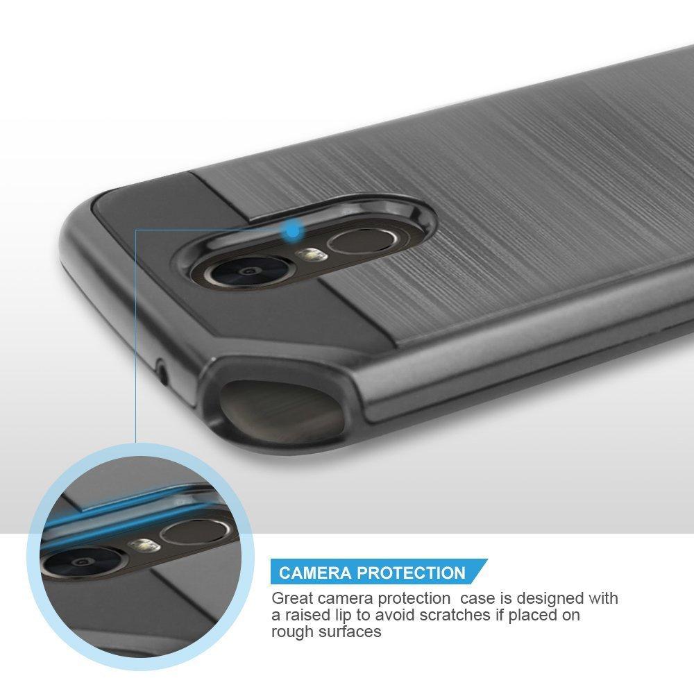Wholesale LG Stylo 3 Armor Hybrid Case (Hot Pink)