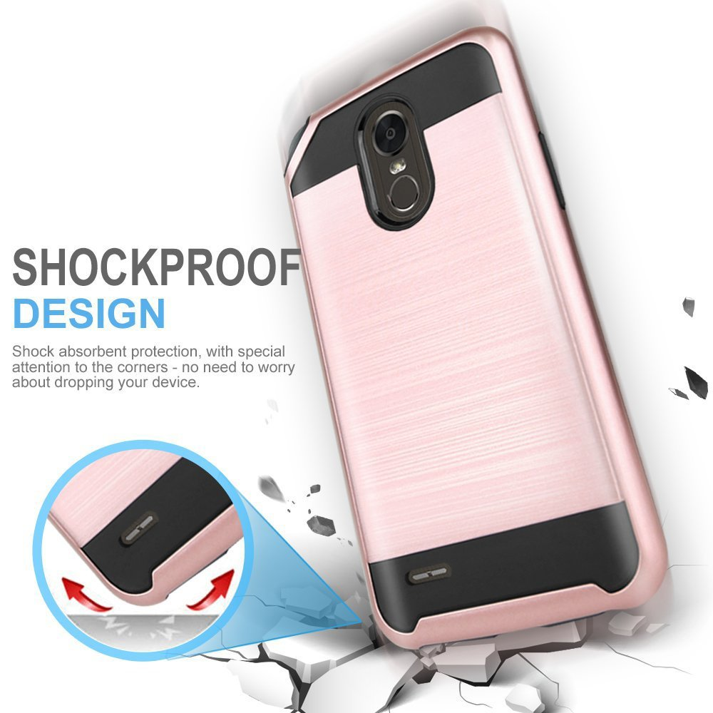 online store fa22b e998a Wholesale LG Stylo 3 Armor Hybrid Case (Rose Gold)