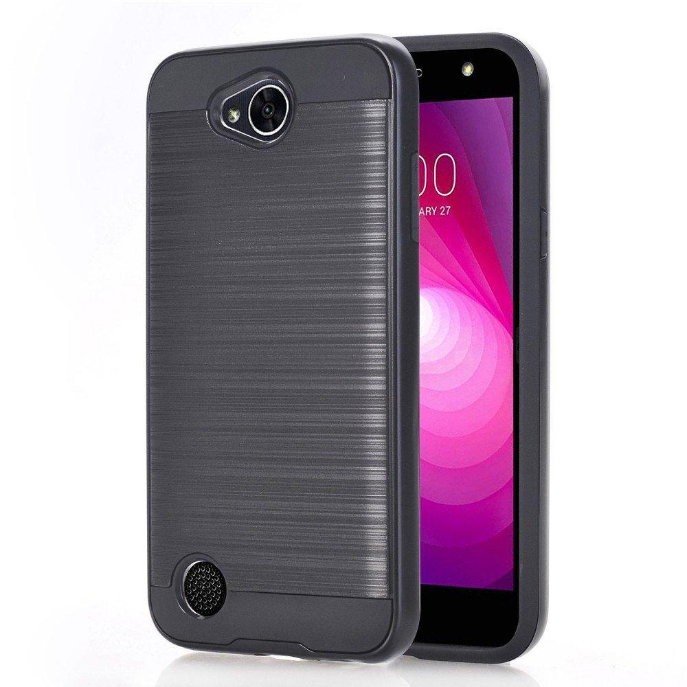 best service 3b78b b40ae Wholesale LG X Power 2, Fiesta LTE, X Charge Armor Hybrid Case (Black)