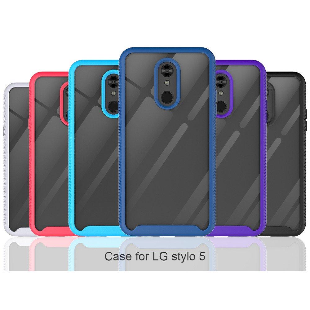 Wholesale LG Stylo 5 Clear Dual Defense Hybrid Case (Black)