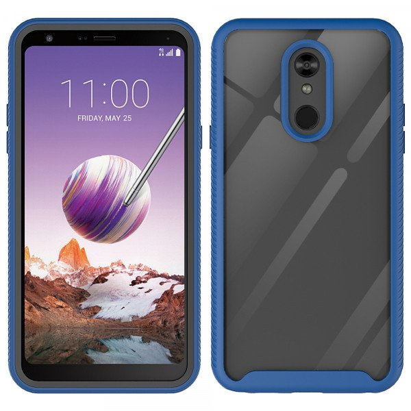 Wholesale LG Stylo 5 Clear Dual Defense Hybrid Case (Navy Blue)