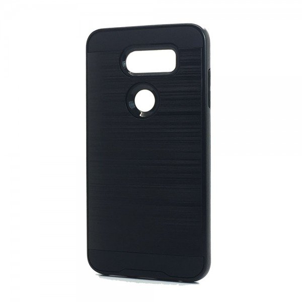 Wholesale LG V40 ThinQ Armor Hybrid Case (Black)