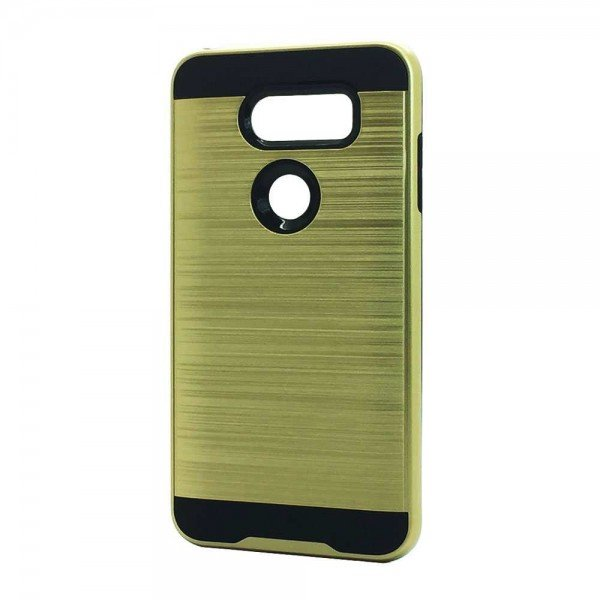 Wholesale LG V40 ThinQ Armor Hybrid Case (Gold)