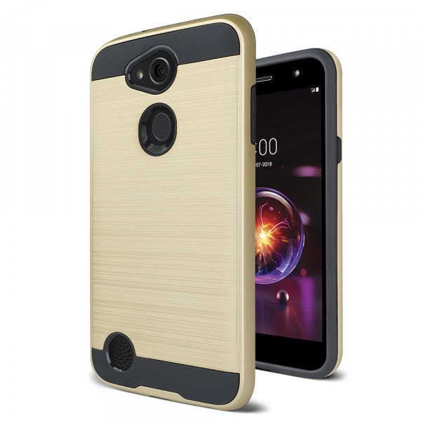 Wholesale LG X Power 3, Fiesta 2, X Charge 2, Armor Hybrid Case (Gold)