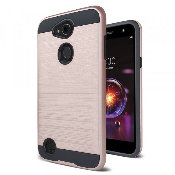Wholesale LG X Power 3, Fiesta 2, X Charge 2, Armor Hybrid Case (Rose Gold)