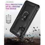 Wholesale Tech Armor Ring Stand Grip Case with Metal Plate for Samsung Galaxy A02S (Rose Gold)