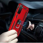 Wholesale Tech Armor Ring Stand Grip Case with Metal Plate for Samsung Galaxy S21+ Plus 5G (Rose Gold)