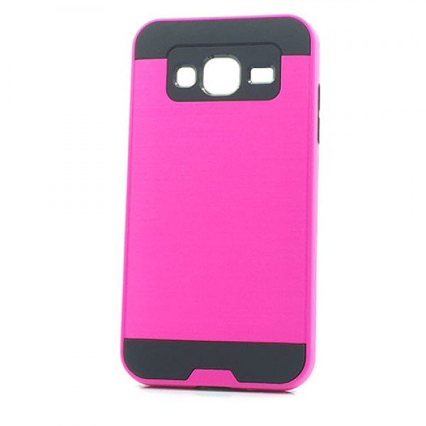 Wholesale Samsung Galaxy J3 / Galaxy Amp Prime Iron Shield Hybrid Case (Hot Pink)