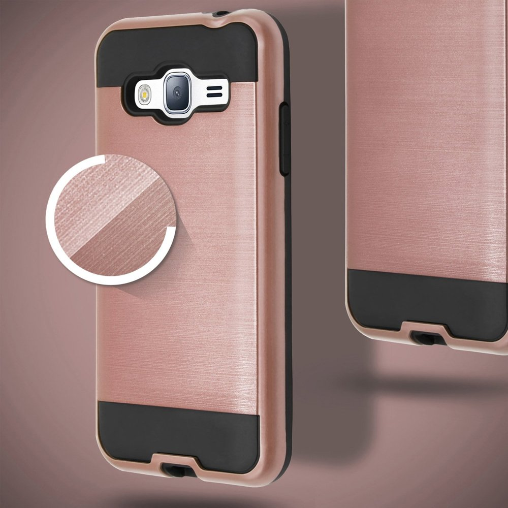 wholesale samsung galaxy j7 2015 iron shield hybrid case rose gold. Black Bedroom Furniture Sets. Home Design Ideas