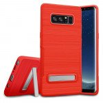 Galaxy Note 8 Brushed TPU Hybrid Kickstand Case (Red)