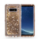 Galaxy Note 8 Star Dust Liquid Clear Armor Defender Case (Bronze Gold)
