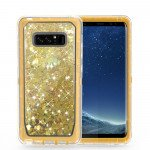 Galaxy Note 8 Star Dust Liquid Clear Armor Defender Case (Champagne Gold)