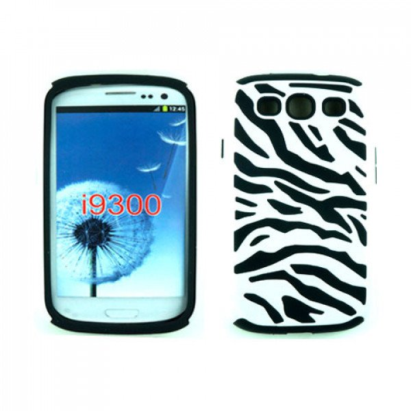 Wholesale Samsung Galaxy S3 / I9300 Zebra Hybrid Case (White-Black)