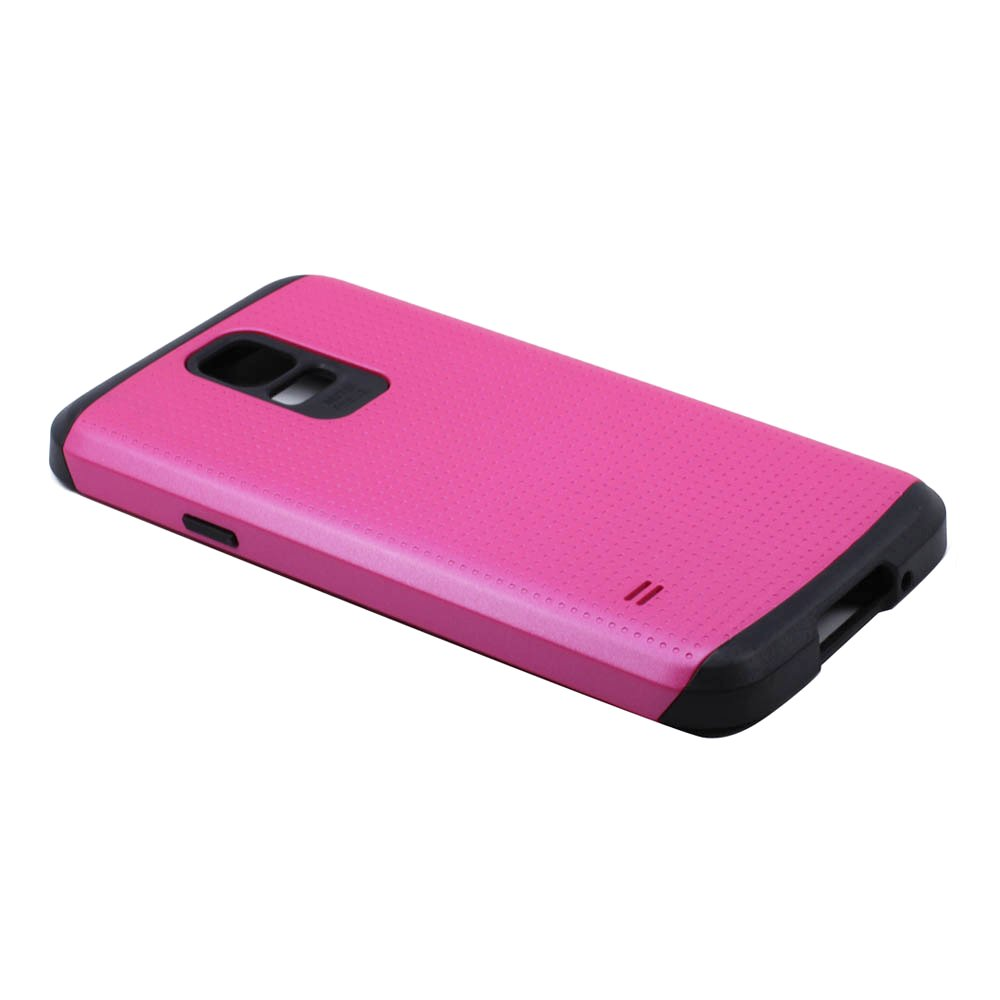 check out 306f2 7f7e5 Wholesale Samsung Galaxy S5 i9600 Slim Armor Hybrid Case (Hot Pink)