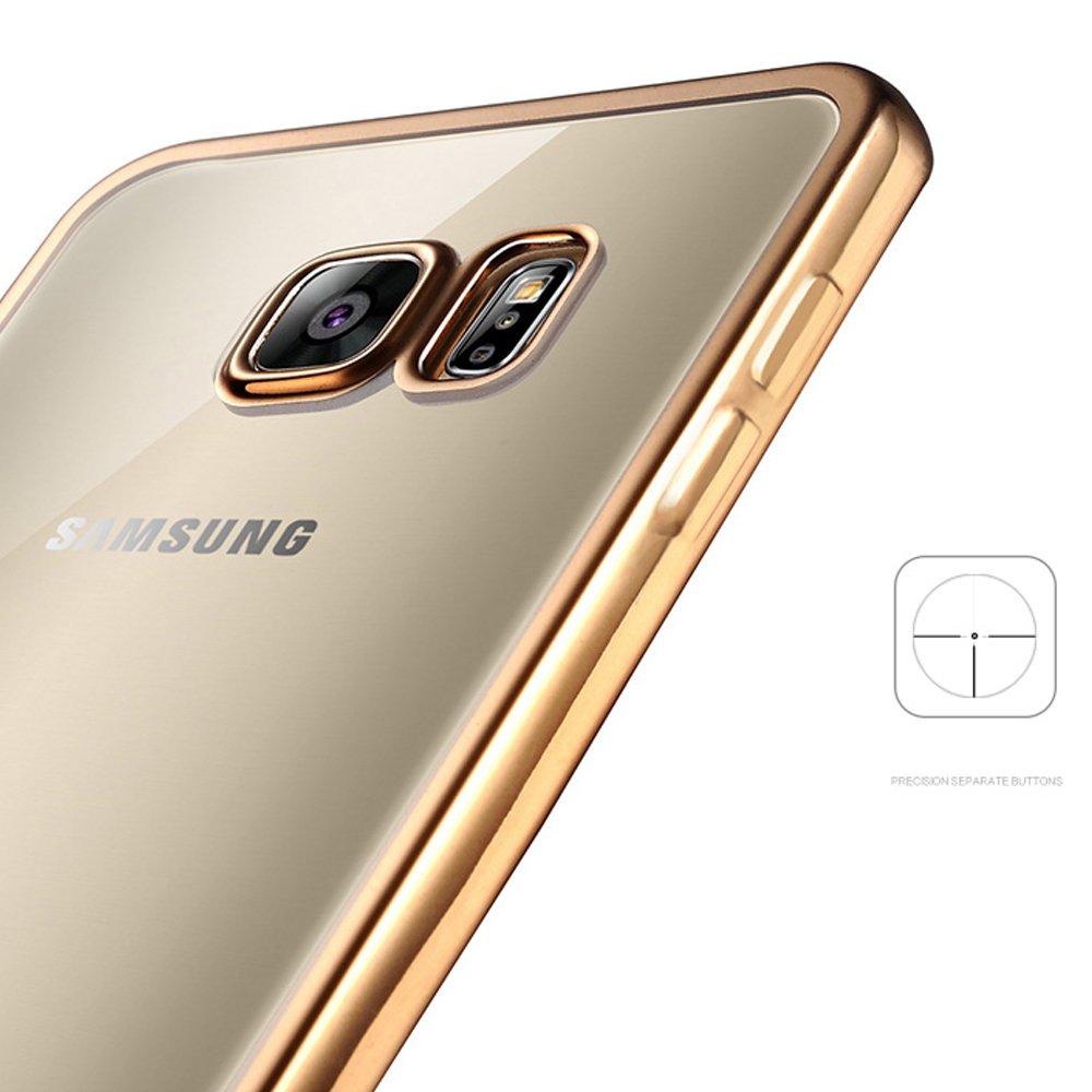 eff5855eb4 Wholesale Samsung Galaxy S6 Edge Plus Crystal Electroplate Hybrid Soft Case  (Rose Gold)
