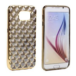 Samsung Galaxy S7 Edge Exotic Electroplate Soft Hybrid Case (Black)