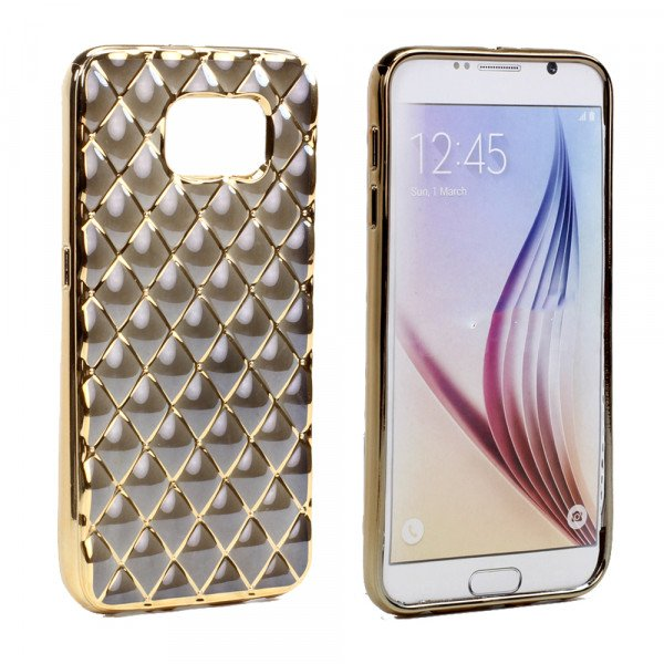 Wholesale Samsung Galaxy S7 Exotic Electroplate Soft Hybrid Case (Balck)