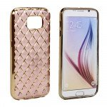 Wholesale Samsung Galaxy S7 Exotic Electroplate Soft Hybrid Case (Rose Gold)