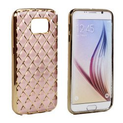 Samsung Galaxy S7 Edge Exotic Electroplate Soft Hybrid Case (Rose Gold)